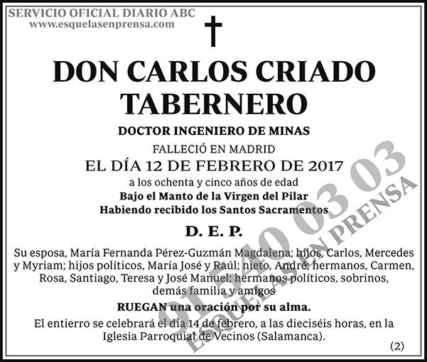 Carlos Criado Tabernero